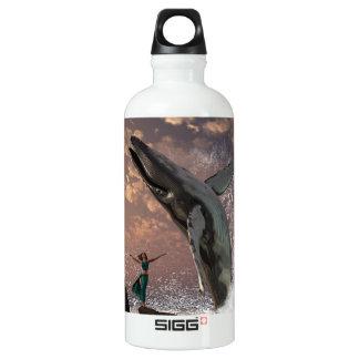 Whale Watcher Fantasy Aluminum Water Bottle