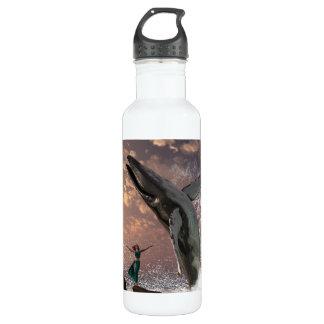 Whale Watcher Fantasy Water Bottle