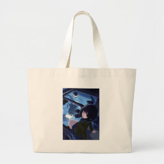 Whale Watcher Large Tote Bag