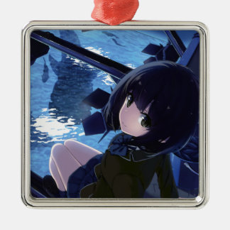 Whale Watcher Metal Ornament