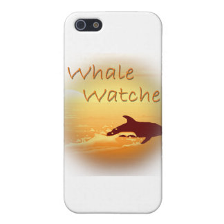 Whale Watcher  orange Cover For iPhone SE/5/5s