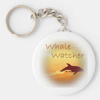 Whale Watcher orange Key Chains