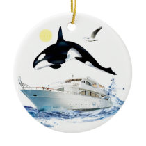 Whale Watcher Ornament