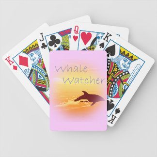 Whale Watcher  purple Bicycle Playing Cards