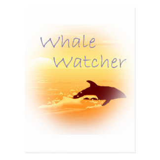 Whale Watcher  purple Postcard