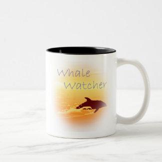 Whale Watcher  purple Two-Tone Coffee Mug