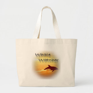 Whale Watcher red Canvas Bags
