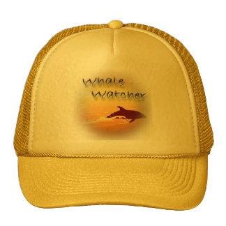 Whale Watcher red Mesh Hats
