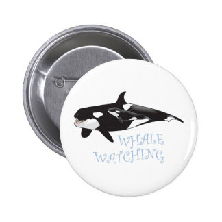 Whale Watching Pinback Buttons