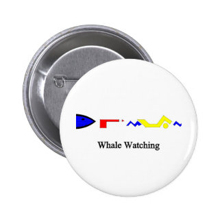 Whale Watching Pinback Button