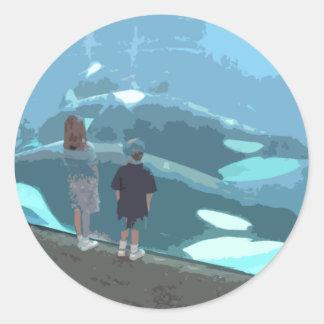 Whale Watching Classic Round Sticker