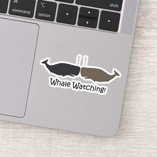 Whale Watching Cute Sticker