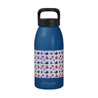 Whale Watching on Blue Water Bottle