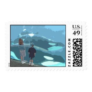 Whale Watching Postage