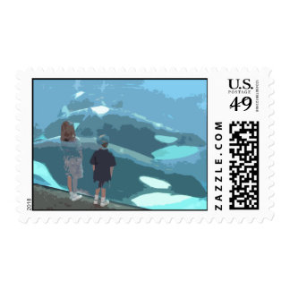Whale Watching Postage Stamp