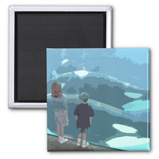 Whale Watching Refrigerator Magnet