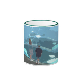 Whale Watching Ringer Coffee Mug