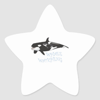 Whale Watching Star Stickers