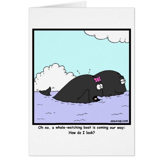Whale Watching: Whale Cartoon Card