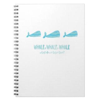 Whale, whale, whale - Notebook (White)