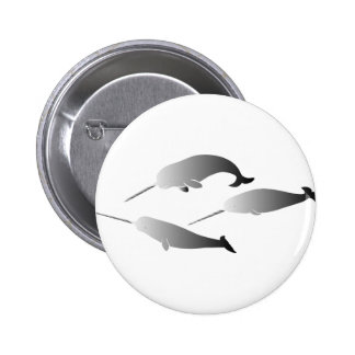 whale whales narwal narwhale unicorn scuba diving button