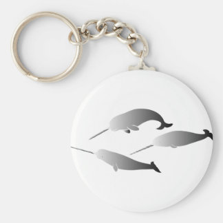 whale whales narwal narwhale unicorn scuba diving keychain