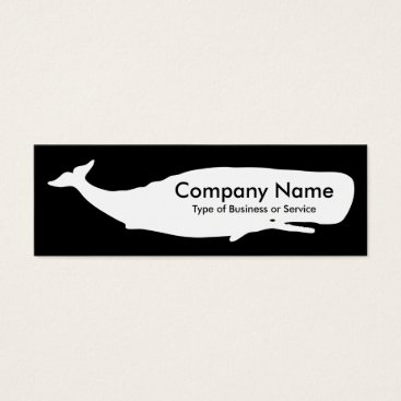 Professional Business Whale - White on Black Mini Business Card