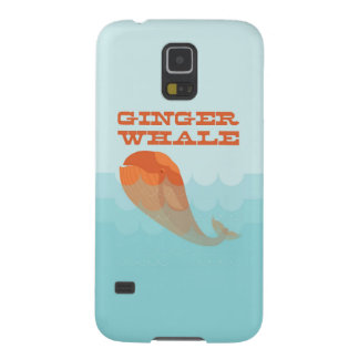 Whale with a red toupee swimming in the ocean. galaxy s5 cover