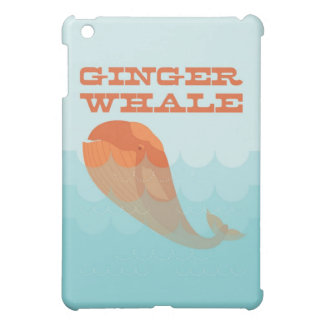 Whale with a red toupee swimming in the ocean. iPad mini cover