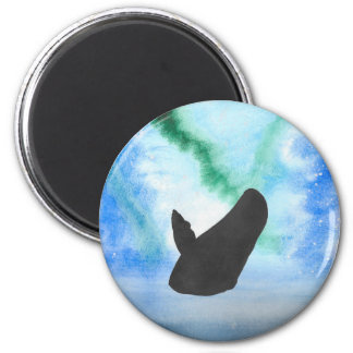 Whale With Northern Lights Magnet