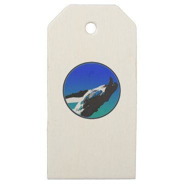 Beach Themed Whale Wooden Gift Tags