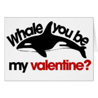 Whale you be my Valentine Cards