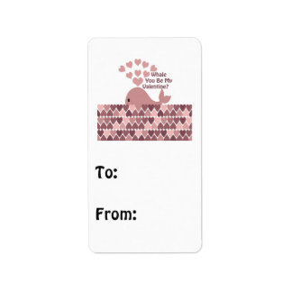 Whale You Be My Valentine Label