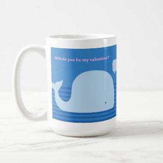 """Whale you be my Valentine"" Mug"