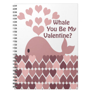 Whale You Be My Valentine Notebook