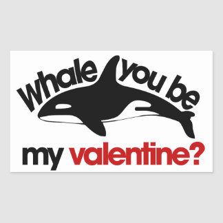 Schön Whale You Be My Valentine Rectangular Sticker