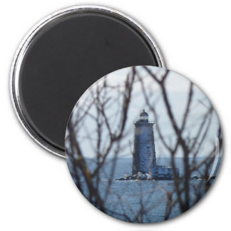 Whaleback Lighthouse 2 2 Inch Round Magnet