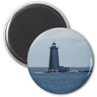 Whaleback Lighthouse 2 Inch Round Magnet