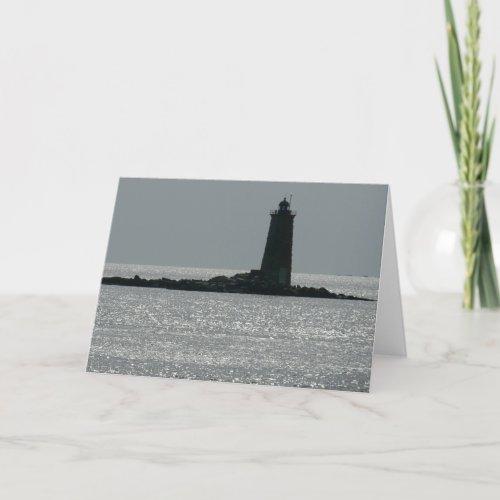Whaleback Lighthouse Card card