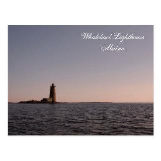 Whaleback Lighthouse, Maine  Postcard