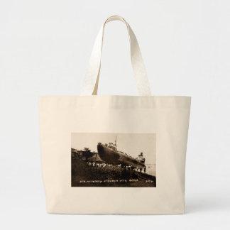 Whaleback Str Atikokan Ashore Marine City, MI Canvas Bags