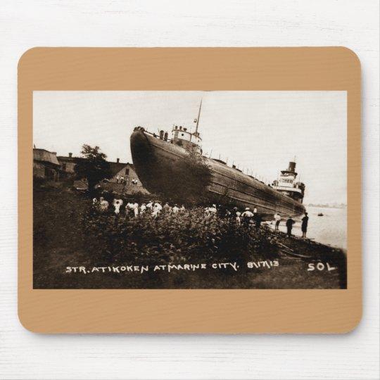 Whaleback Str Atikokan Ashore Marine City, MI Mouse Pad