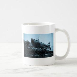 Whaleback Str Atikokan Ashore Marine City, MI Mugs
