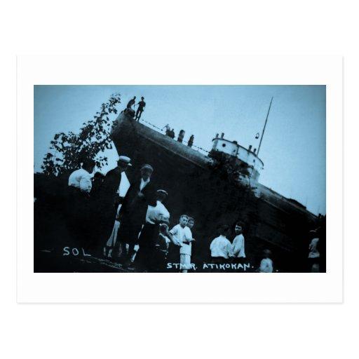 Whaleback Str Atikokan Ashore Marine City, MI Postcards