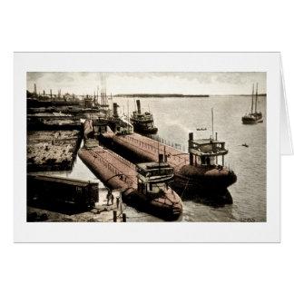 Whalebacks at Belle Isle, Michigan Card