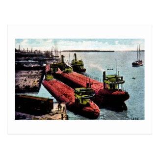 Whalebacks at Belle Isle Michigan Post Card