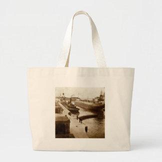 Whalebacks at The Soo - Vintage Stereoview Tote Bag