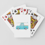 """Whalen Summer Surf Wagon Playing Cards<br><div class=""""desc"""">My two year old LOVES blue trucks so I painted a large oil painting for his bedroom. I added a surfboard because we live near the beach and I hope one day he&#39;ll want to surf! Our little family will be at the beach a lot this summer so I made...</div>"""