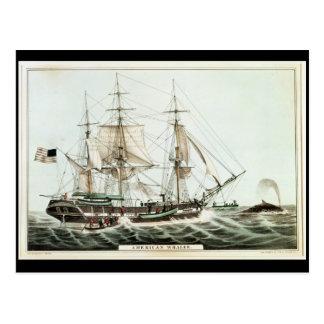 Whaler americano, grabado por el curtidor de Natha Postales