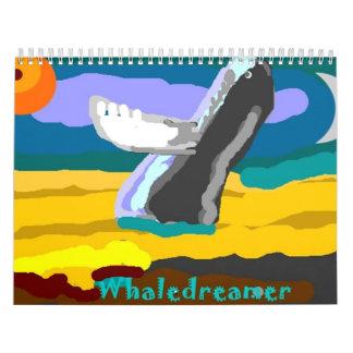 Whales A Dreamin Wall Calendar